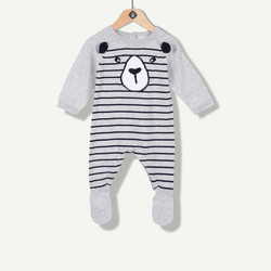 Combinaison tricot ourson grise