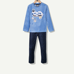 Pyjama garçon en velours Star Wars bleu