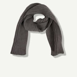 Echarpe en tricot gris chiné