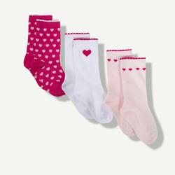 Lot de 3 paires de chaussettes fuchsia