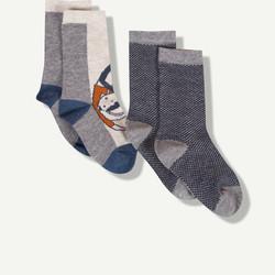 Lot de 2 chaussettes fantaisies