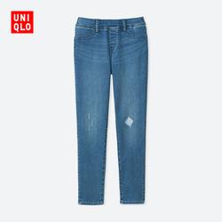 Kids / Girls High stretch denim tights (washed product) (broken brush) 405 190