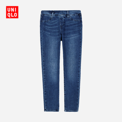 【Special sizes】Kids / girls high stretch denim skinny pants (washed product) 405191