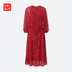 Women's Fancy New Year red printed dress (Sleeve) 406 069