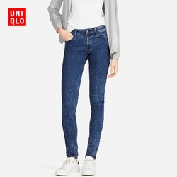Women's high stretch jeans (washed product) 405622
