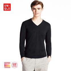 Men HEATTECH EXTRA WARM V-neck T-shirt (9 Sleeve) 172764