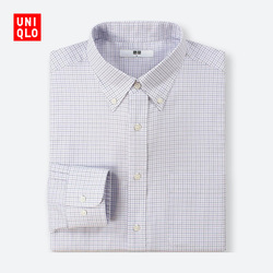 【Special sizes】Men's Worsted plaid shirt (long sleeves) 407 983