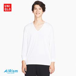 Men AIRism V-neck T-shirt (nine points sleeves) 406 543