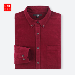 New Year red corduroy men's shirts (long sleeves) 401 452