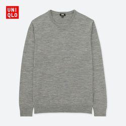 Men's worsted merino round neck sweater (long sleeves) 400 623