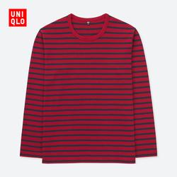 Men's washed stripe T-shirt (long sleeves) 404 146