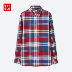 Women's flannel plaid shirt (long sleeves) 402 675