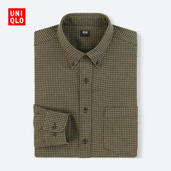 Men's flannel plaid shirt (long sleeves) 401 834
