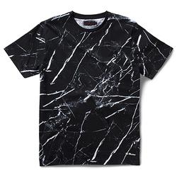 MARBLE PRINT T-SHIRT BLACK