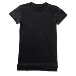Black Gloss Print on Black Tencel+Cotton Dress T-shirt