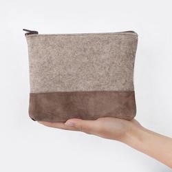 felt cosmetic bag