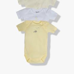 Lot de 3 bodies jaunes