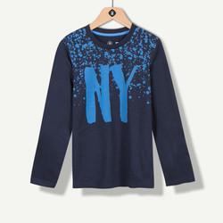 T-shirt marine avec pluie d'étoiles