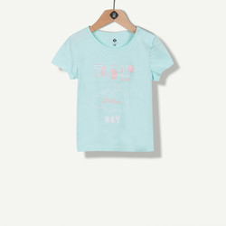 T-shirt à message vert d'eau