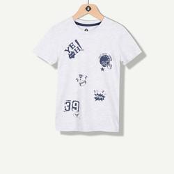 T-shirt gris print football américain