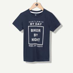 T-shirt marine texte fantaisie