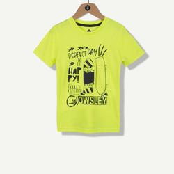 T-shirt jaune print skate