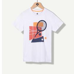 T-shirt blanc print raquette de tennis