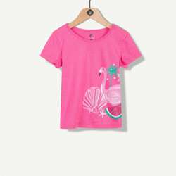 T-shirt flamand rose fuchsia