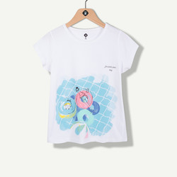 T-shirt blanc maxi print estival