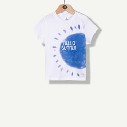 T-shirt Hello Summer écru