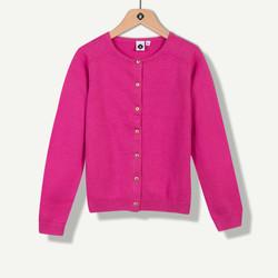 Cardigan tricot fuchsia