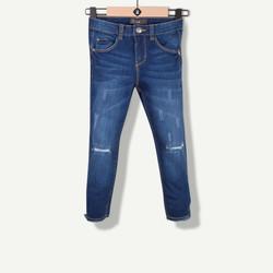 Jeans skinny bleu délavé