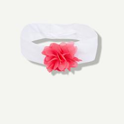 bandeau blanc fleur en tulle
