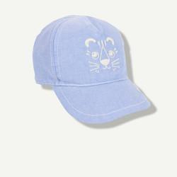 Casquette brodée tigre bleu ciel