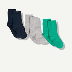 Lot de 3 chaussettes unies