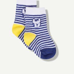 Chaussettes à rayures bleues