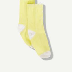 Paire de chaussettes chat jaune