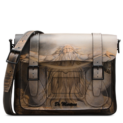 "William Blake 11"" Leather satchel"