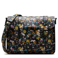 """11"""" DARCY FLORAL LEATHER SATCHEL"""