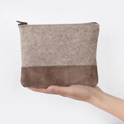 cosmetic bag flat