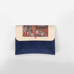 Ladies pouch flat blue