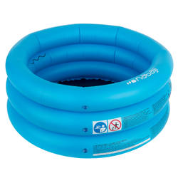 Small round inflatable paddling pool with three chambers width 70 cm height 30cm