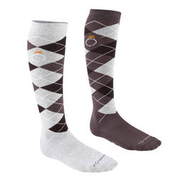 Argyle Adult Riding Socks Twin-Pack