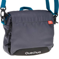 Grey multi-compartment bag