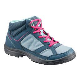 NH100 JR Mid Waterproof Hiking Shoes - Black/Red