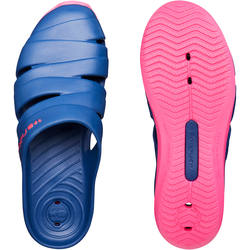 WOMEN'S SCU 100 POOL CLOGS DARK BLUE