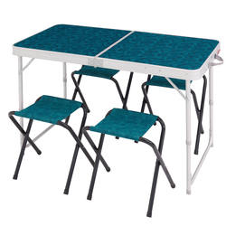 4-Person, Camping/Hiking Table With 4 Seats