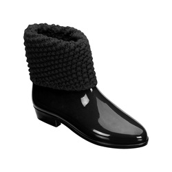 Ankle boot tricot spa black