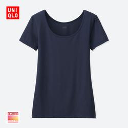 Women's HEATTECH U-neck T-shirt (Short Sleeve)