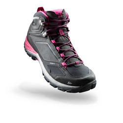 MH500 Mid Women's Waterproof Mountain Hiking Boots - Grey/Pink